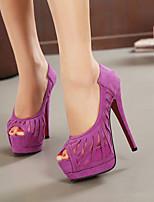 Women's Shoes Fleece Stiletto Heel Peep Toe Dress More Colors available