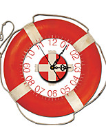Vintage 3D Effect Red Lifebuoy Wall Clock 15.7*15.7 inch / 40*40cm
