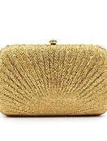Bolsas/Mini-Bolsas ( Dourado , Cristal / Rhinestone ) - de Lantejoula