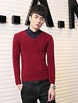 SENLEIS®Men's Casual Plus Sizes Pure Long Sleeve Regular Pullover (Cotton)