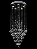 Modern Crystal Chandelier Lighting Pendant Lights Ceiling Lamp Fixtures with LED Bulbs K9 Crystal D50CM H100CM CE FCC UL