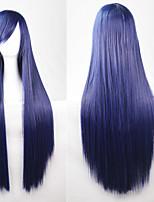 New Anime Cosplay Deep Purple Long Straight Hair Wig 80CM