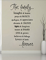 Wall Stickers Wall Decals Style Family Quote English Words & Quotes PVC Wall Stickers
