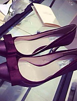 Women's Shoes Patent Leather Stiletto Heels/Pointed Toe Pumps/Heels Casual Gray/Burgundy