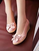 Women's Shoes  Wedge Heel Wedges/Heels/Round Toe Pumps/Heels Office & Career/Dress Black/Pink/Purple/Beige