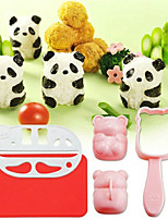 Easy DIY 3D Panda Shape Rice Ball Mold Sushi Mould With Nori Punch