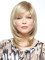 capless de haute qualité longueur moyenne droites mono top remy vierge perruques de cheveux humains 7 couleurs à choisir