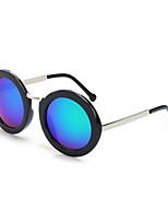 100% UV400 Round Mirrored Sunglasses