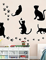 Wall Stickers Wall Decals Style Black Cat PVC Wall Stickers