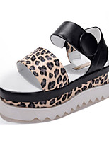 Women's Shoes Rubber Wedge Heel Wedges Sandals Casual White/Animal Print