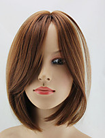 In European And American Fashion Double Color Highlights Points Short Straight Hair Wig