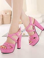 Women's Shoes Fleece Chunky Heel Peep Toe Sandals Dress More Colors available