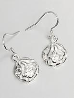 S925 Silver Drop Earring Design for Women Rose Design Drop Earring
