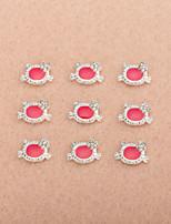 10Pcs/Set Lovely Unique Design Diamond 3D Alloy Nail Art Decoration(Assorted Color)