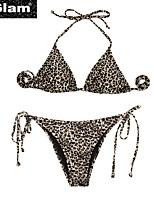 De las mujeres Bikini - Animal Push-Up/Sin Soporte/Sujetador Acolchado Nailon/Espándex