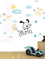 parede adesivos de parede do estilo dos desenhos animados decalques de parede criativo pvc adesivos