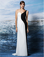 Formal Evening Dress Sheath/Column One Shoulder Floor-length Georgette