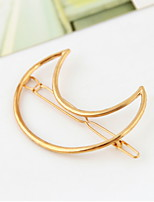 Women Vintage Hollow Out The Moon Alloy Hair Clip