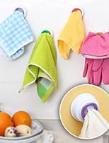 Designed Self-adhesive Cloth Holder Towel Hook Kitchen (Random Color)