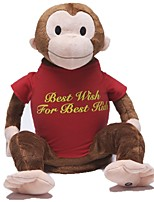 Stuffed Toys Zoobies Plush Mid Monkey 40*20*18cm with blanket 135*87cm