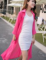 CXI83®Women's Sexy/Beach/Casual/Plus Sizes Micro-elastic Long Sleeve Long Blouse (Chiffon/Knitwear/)