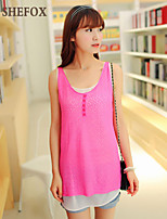 Women's Sexy/Casual Micro-elastic Thin Sleeveless Vest (Chiffon/Lace/Knitwear) SF7C07
