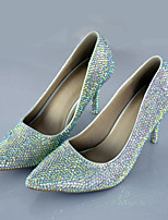 Women's Shoes Stiletto Heel Heels Crystal Pumps/Heels Wedding/Party & Evening/Dress Colorful