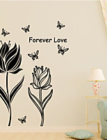 3D Wall Stickers Wall Decals Style Flowers And Butterflies PVC Wall Stickers
