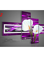 Hand-Painted Abstract Flower Oil Painting on Canvas  4pcs/set No Frame