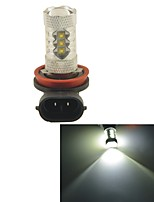 Carking™ H8/H11 80W 16SMD 2800ML 6000K White Light LED Fog Light Head Lamp Driving Bulb(DC 12V)