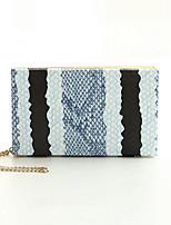 Women 's PVC Baguette Clutch - Blue