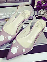 Women's Shoes  Kitten Heel Pointed Toe Sandals Casual Black/Pink/Gray