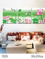 DIY Digital Oil Painting With Solid Wooden Frame Family Fun Painting All By Myself  Lotus Pond Beauty 7029