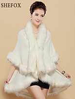 Women Fox Fur/Faux Fur Shawl & Wrap (Without Lining) SF7F17