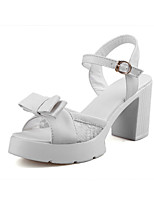 Women's Shoes Chunky Heel Peep Toe Sandals Dress With Bowknot More Colors Available