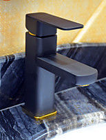 Contemporary Black Painting One Hole Single Handle  Bathroom Sink Faucet