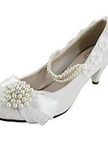 Women's Shoes Patent Leather Kitten Heel Heels Pumps/Heels Wedding White