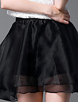 Women's Black Skirts , Casual Above Knee