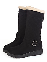 Women's Shoes Platform Comfort/Round Toe Boots Casual Black/Brown/Yellow