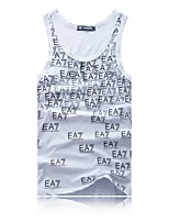 Men's Sleeveless Vest , Cotton Casual Print