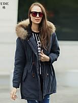 Veri Gude® Women's Winter Raccoon Fur Removable Lining Warm Parka Fashion Coat