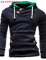 Herren Freizeit/Büro/Sport Activewear Sets  -  Einfarbig Lang Baumwollmischung