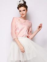 Women's Blue/Pink/White T-shirt Long Sleeve