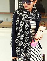 Women Cute Casual Skull Scarf Scarves Shawls