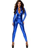 Unitardos ( Azul/Fucsia/Verde/Rojo , Poliéster/Satén elástico tejido , Desempeño/Ropa de Noche ) - Desempeño/Ropa de Noche - para Mujer