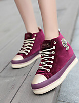 Zapatos de mujer - Tacón Plano - Plataforma / Creepers / Punta Redonda - Sneakers a la Moda - Exterior / Casual - Tela -Negro / Azul /
