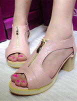 Women's Shoes  Wedge Heel Wedges/Platform Sandals Casual Pink/Beige