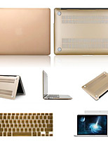 High Quality Solid Colors PVC Hard Case with Screen Protector and Keyboard Flim for Macbook Air 13.3