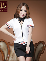 SKLV Women's Cotton Blends Stewardess Uniforms Ultra Sexy/Suits Nightwear/Lingerie
