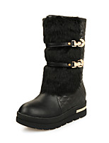 Women's Shoes Low Heel Snow Boots/Round Toe Boots Office & Career/Dress/Casual Black/White